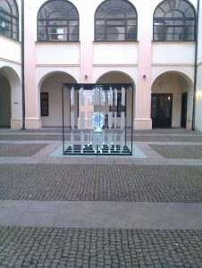 Interactive glass projection by Belan Amin and Vesko Anev in Zlin, CZ