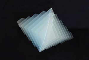 Flat-sided frosted glass